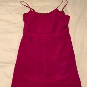 Madewell Magenta Summer Dress Chiffon Sz 2 Pink